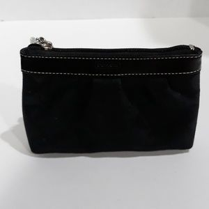 Coach Factory Signature Black Wristlet Handbag